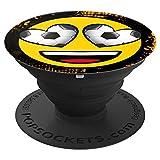 emoji - happy brand Fussball Liebe lachen Spaß - PopSockets Ausziehbarer Sockel und Griff für Smartphones und Tablets