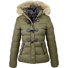 Brave Soul Womens Ladies Designer Faux Fur Hooded Short Jacket Quilted Puffer Padded Coat