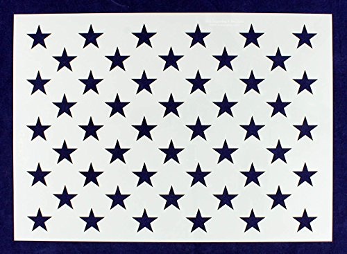 50 Star Field Stencil US American Flag G-Spec 12.75 x 18 Inches