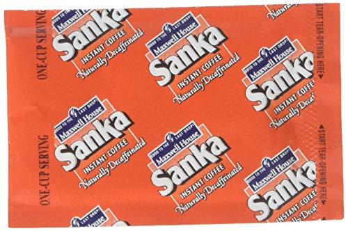 Sanka Instant Decaf Coffee - 0.7 oz. single serve envelope, 1000 envelopes per case