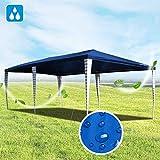 Hengda Pavillon 3x6m Gartenzelt UV-Schutz Hochwertiger Blau Partyzelt ohne Seitenteilein Gartenpavillon für Festival Hochzeit Garten Terrasse