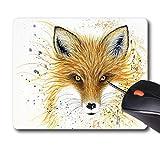 N\A Michelle Faber - Fox Fire - Alfombrilla de Goma Antideslizante Alfombrilla de ratón para Juegos