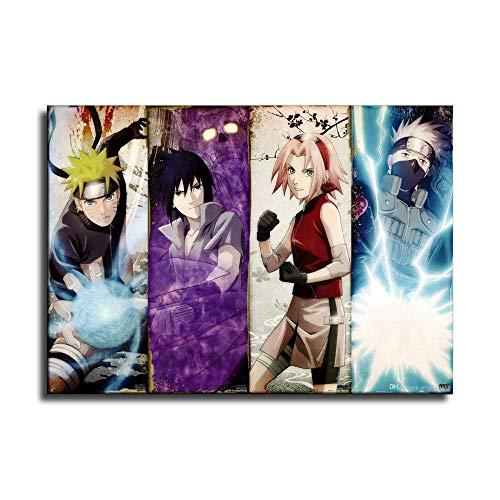 Naruto Leinwand-Kunstposter und Wandkunstdruck, modernes Familienschlafzimmerdekor-Poster