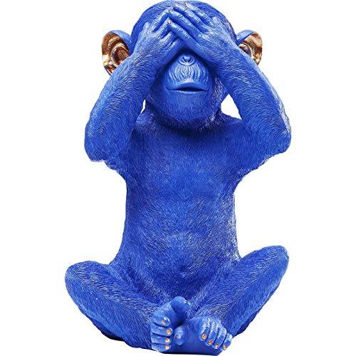 Kare Design Spardose Monkey Mizaru blau Blau 24 35 25 24 x 25 x 35 Spardose Monkey Mizaru blau Kunststoff