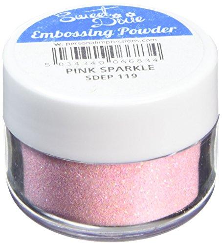 Sweet Dixie Embossing Poeder Roze Sparkle, Synthetisch materiaal, 4 x 4 x 3 cm