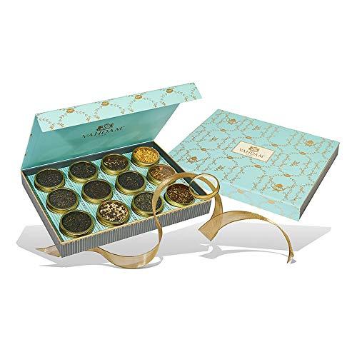 VAHDAM, Sortiertes Tee-Geschenkset - Bloom, 12 Tees in einer Tee-Sampler-Geschenkbox | 100% natürliche Zutaten - Geburtstagsgeschenke für Frauen | Geschenke für Mama