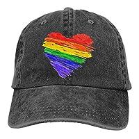 Unisex Baseballmütze Motiv Rainbow Pride Heart von Funny Z
