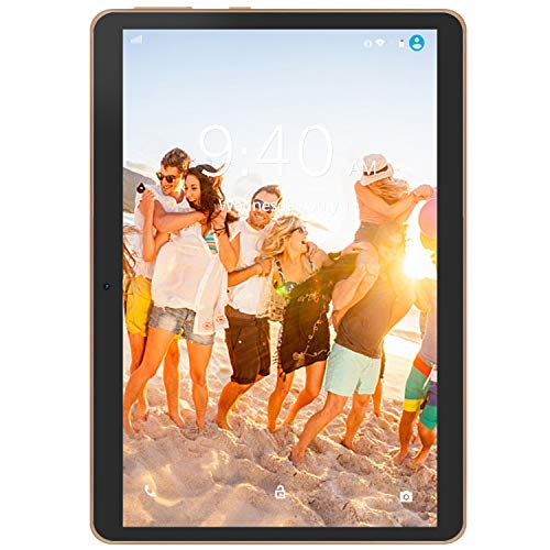 "4G LTE Tablet con Display 10"" YOTOPT Android 9.0 Tablet PC 64 GB Espandibili, 4 GB RAM, Type-c, GPS WIFI (Nero)"