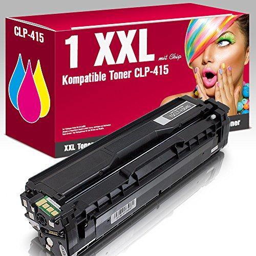 ms-point® 1 x Toner compatibile per Samsung CLP415 CLX-4195FW CLP-415NW CLX-4195FN CLP-415N CLX-4195N CLP-410 CLX-4100 Xpress C1860FW C1860 C1810W C18000 sostituisce CLT-KT 504S nero. nero.