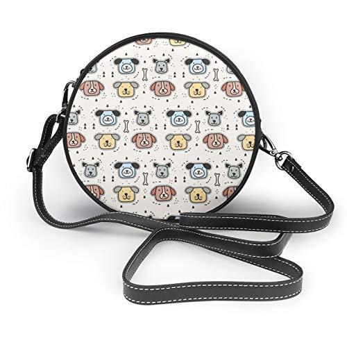 Damen-Handtasche mit Hundemuster