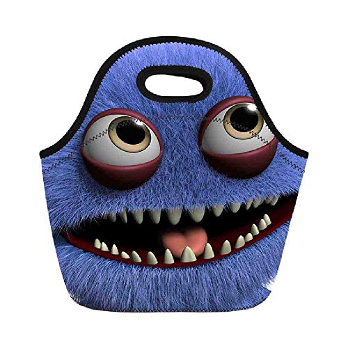 OUNBHL Little Monster Printing Picnic Bag for Lunch Bolsa térmica Fresca para...