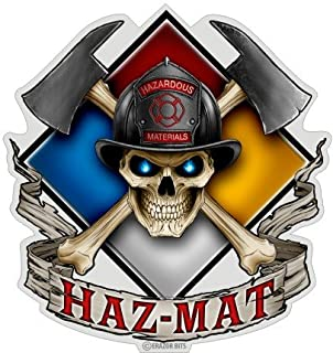 Collectible Firefighter Decals (4in,2pack), Share Your Appreciation and Support with Our Vinyl Haz Mat Stickers for Your H...