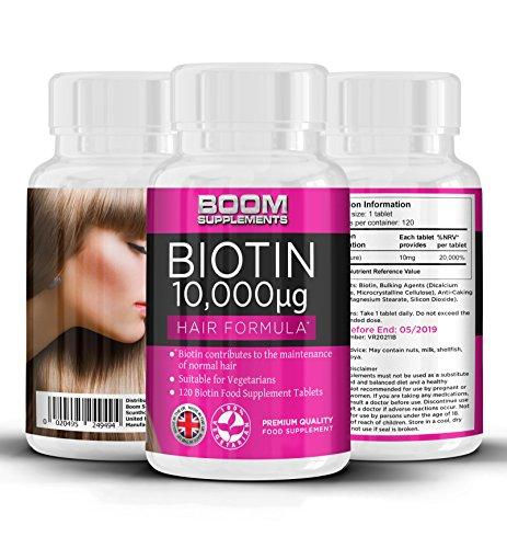 Biotina 10000 mcg | Vitamina para el crecimiento capilar | Pastillas nº 1 para...