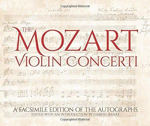 The Mozart Violin Concerti: A Facsimile Edition of the Autographs (Calla Editions)
