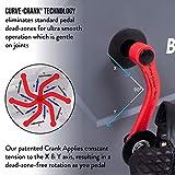 Body Rider BRF980 - Bicicleta estática vertical con ventilador de resistencia al aire con tecnología de manivela curva y soporte para la espalda