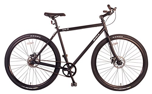 Best Price BIRIA Bicycle Single Speed 29 inch Wheel with Disc Brakes, Matt Black, 51cm