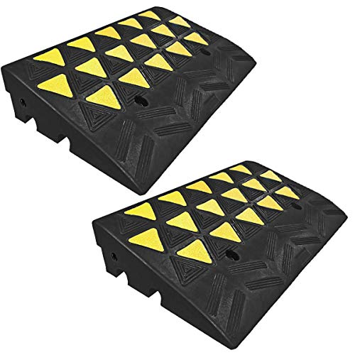 Electriduct Reflective 15 Ton Rubber Curb Ramp 30,000 lbs Capacity | 2 Pack