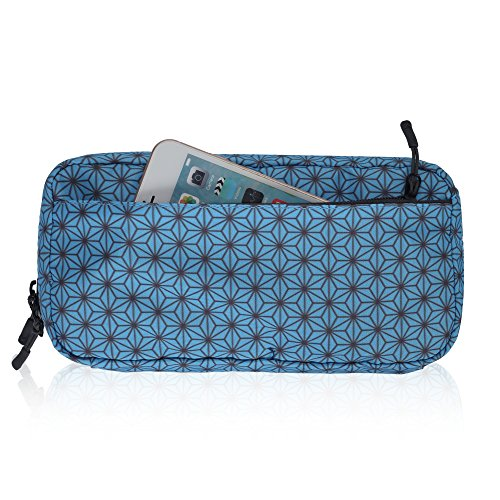 Hynes Eagle Cord Organizer Small Electronics Case Gadget Pouch Phone Accessories Storage Bag Turquoise
