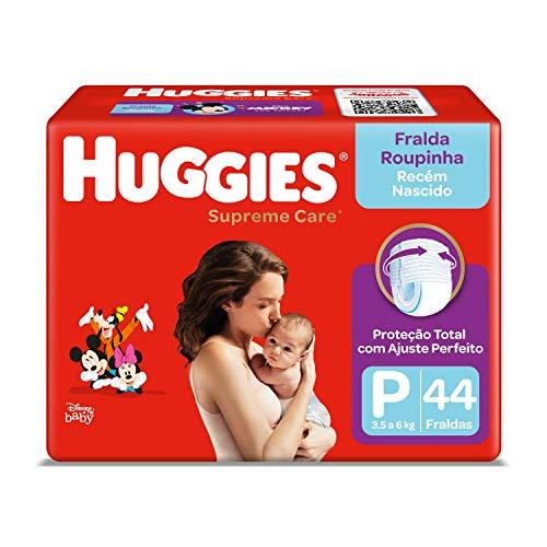 Fralda Huggies Roupinha Supreme Care P - 44 Unidades, Huggies, Vermelha, P