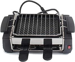 Barbecue à raclette électrique familial pour 2 à 4 personnes sans gril à fumée poêle à raclette fer électrique 1000W -220V