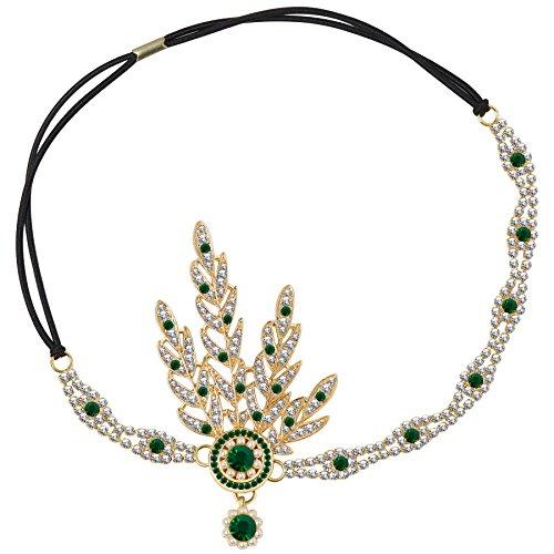 Babeyond® 1920s - Medallón redondo con perlas inspirado en