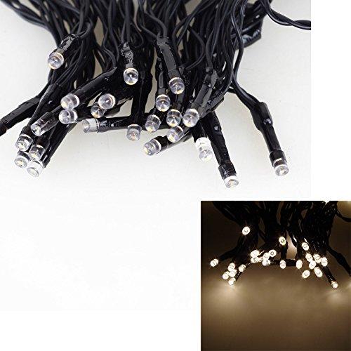 Stylehome guirlande lumineuse à 48 lED's-longueur 3,6 m/50 cm-câble d'alimentation 3 x aA batteriefür le extérieur avec minuteur 6 h/8-boîtier de 18H et à mémoire de forme blanc chaud 684004 dans un carton coloré