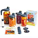 My Mason Makes Fermentation Kit - Easy, Mold-Free Kit for Fermenting Drinks & Vegetables - Includes 4 Wide Mouth Mason Jar Fermenting Lids, Pump, Drink Accessories, Recipe Book & More