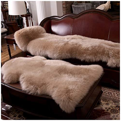 WANGMANDT wollen tapijt, wollen sofa-kussen, winterkussen, deken, bont, schapenvacht deken, matras, yogamat, comfortabel en geurloos