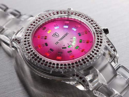 DeTomaso G-30722-R-W-S – Reloj digital de mujer de cuarzo con correa