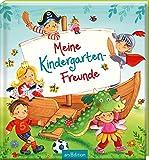 Meine Kindergarten-Freunde: Freundebuch ab 3 Jahren, Ritter, Prinzessinnen, Fußball und Einhörner,...
