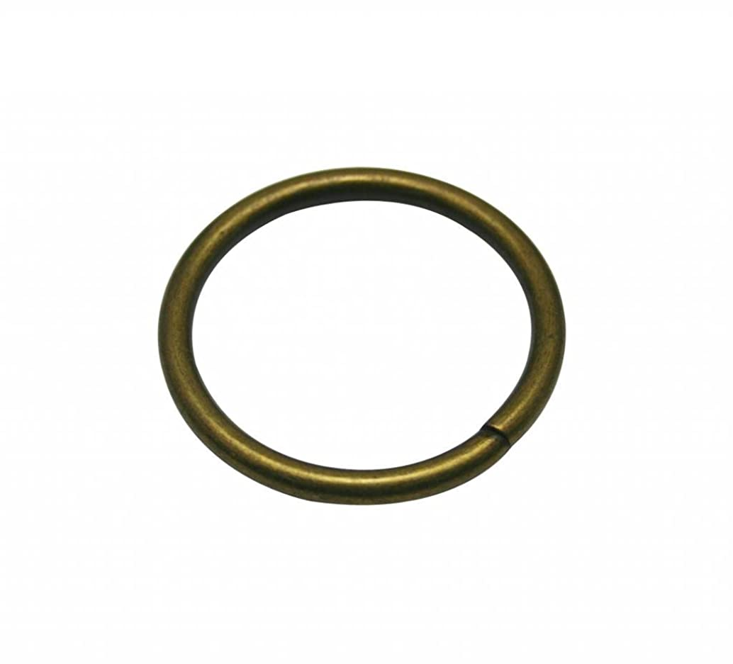 Generic 10 Piece Metal Bronze Annular Buckle Inside Loop Ring for Strap Keeper