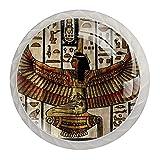 Möbelgriffe 4 Stück Kristallglas-Zuggriffe,Altes ägyptisches Muster der Weinlese ,für offene Möbeltür oder Schublade