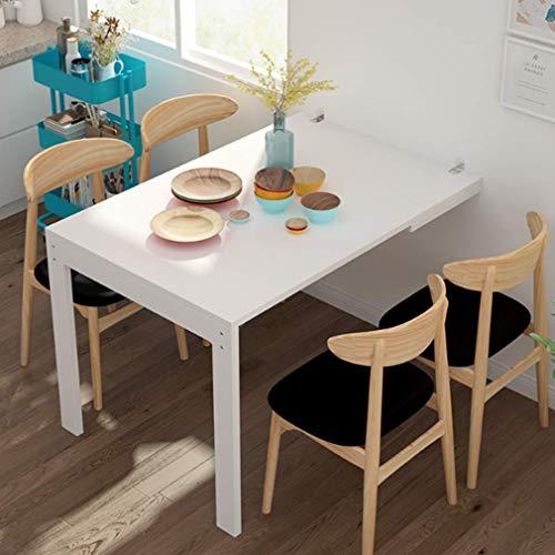 YJTGZ Mesas Plegables de Montaje en Pared, 120 x 80 cm Mesa para Colgar en la Pared Mesa de Comedor Simple para el hogar, Mesa Cuadrada de Pared para Escritorio Plegable Multifuncional