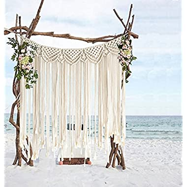 Macrame Backdrops For Wedding Large Curtain Home Décor Handwoven,42 Wx35 L