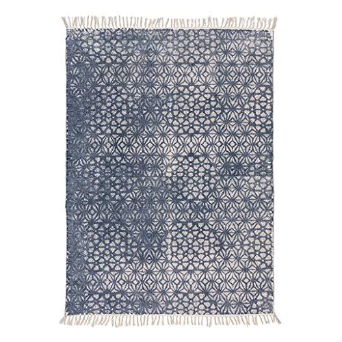 YMGPAA handgebreide katoenen tapijten kunnen worden gewassen, Amerikaans land woonkamer, sofa, thee, tafelkleed, 80 x 120 cm, opvouwbaar, eenvoudig te onderhouden.