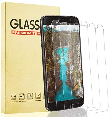 Lixuve 3 Piezas Protector de Pantalla para Samsung Galaxy S7 Cristal Templado,...
