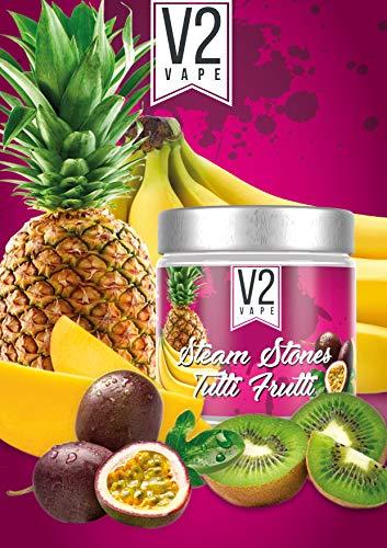 V2 Vape Shisha Steine Tutti Frutti- Steam Stones Dampfsteine 250gr 0mg nikotinfrei