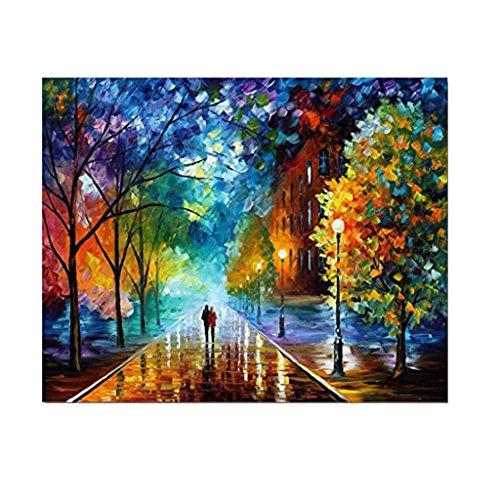 R-WEICHONG Pintura al óleo DIY por números, hermosa vida con pigmento acrílico lienzo en pintura digital decoración del hogar
