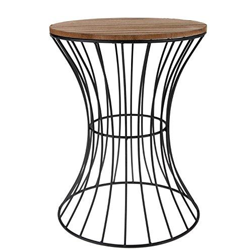 Koop Beistelltisch Couchtisch Nachttisch Tisch Hocker Blumenständer Holz Metall
