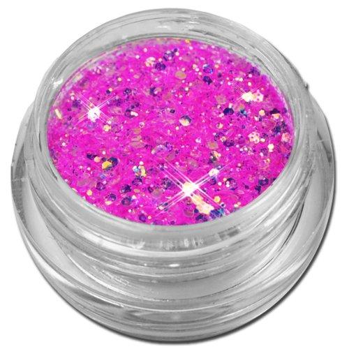 Glamour Mix Glitter Glitzer Puder Pink Violett Irisierend Nailart
