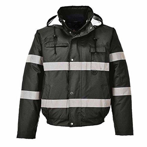 Portwest S434 - Iona Lite chaqueta de bombardero, color Negro, talla Medium