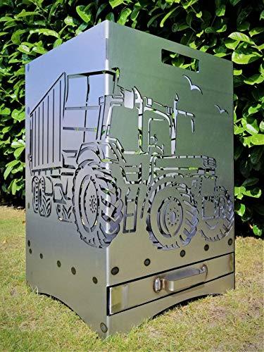 Feuerkorb Feuerstelle Grill Maße 40x40x60 cm Motiv