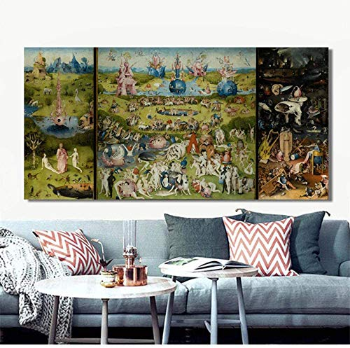 SYCEZHIJIA Family Adult Jigsaw Puzzle Jigsaws Wooden Puzzle Jigsaws Bosch Hieronymus The Garden Of Earthly Delight Puzzles 1000 Pieces, Famous Painting Jigsaw Gifts, With Beautiful Boxes