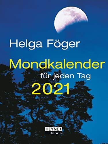 Mondkalender für jeden Tag 2021: Taschenkalender 10,5 x 14,0 cm