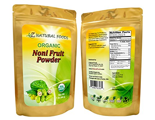 Organic Noni Fruit Powder - Bulk 5 lb Size - Queen of Health Plants Superfood Supplement - Mix in Juice, Drinks, Shakes, Smoothies, Recipes - Raw, Vegan, Non-GMO