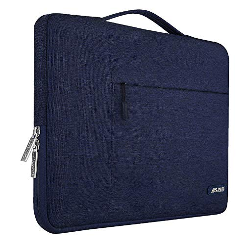 MOSISO Laptop Sleeve Compatible with MacBook Pro 16 inch, 15 inch 15.4 inch 15.6 inch Dell Lenovo HP Asus Acer Samsung Sony Chromebook, Polyester Multifunctional Briefcase Protective Bag, Navy Blue