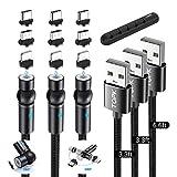 TOPK Cable USB Magnético, 3 en 1 Cable de Carga Magnético, Rotación de...