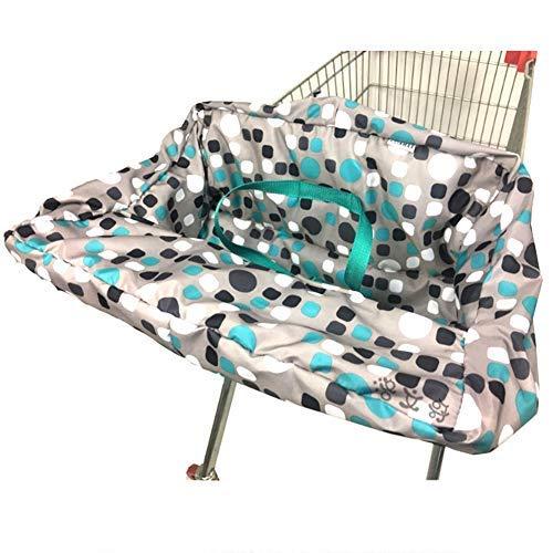 ZHANGLI Fundas de asiento para bebé, portátil, antideslizante, multifuncional, para supermercado, carrito de compras