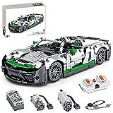 YIGE Juego de construcción de coche deportivo, 1016 piezas, mando a distancia 1:14, coche de carreras con motores, compatible con la técnica Lego