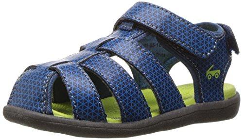 See Kai Run Boys' Cyrus Navy Water Shoe, 4 M US Toddler
